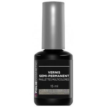 Beauté Femme Vernis à ongles Folie Cosmetic Vernis Semi permanent  Paillettes Multicolores   15m... Multicolore