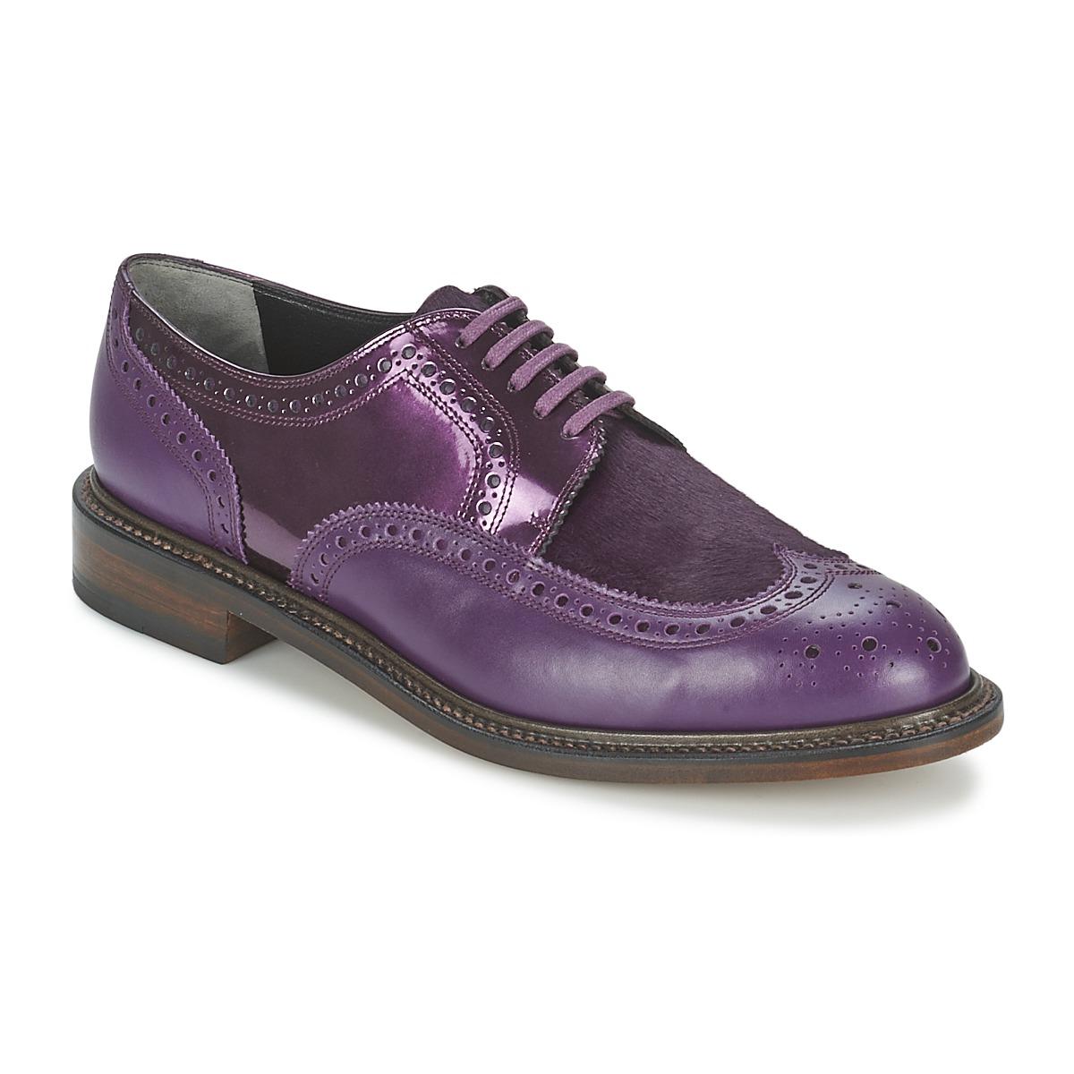 robert clergerie roel violet livraison gratuite avec chaussures derbies femme. Black Bedroom Furniture Sets. Home Design Ideas