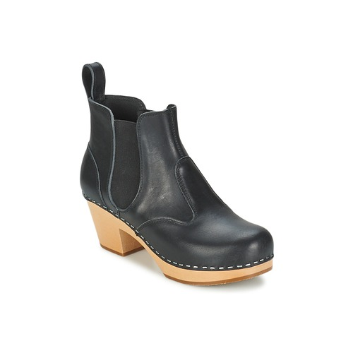 Bottines / Boots Swedish hasbeens CHELSEA Noir 350x350