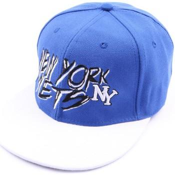 Accessoires textile Homme Casquettes Hip Hop Honour Casquette fitted NY Bleue et blanche Bleu