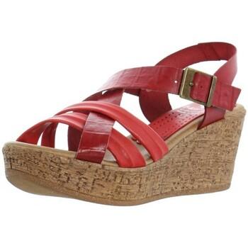 Chaussures Femme Sandales et Nu-pieds Marila Talons compensés  ref_46315 Rouge multi rouge