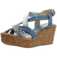 Chaussures Femme Sandales et Nu-pieds Marila Talons compensés  ref_46314 Multi bleu