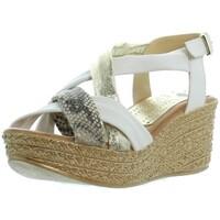 Chaussures Femme Sandales et Nu-pieds Marila Compensées  ref_46313 Multi Blanc blanc