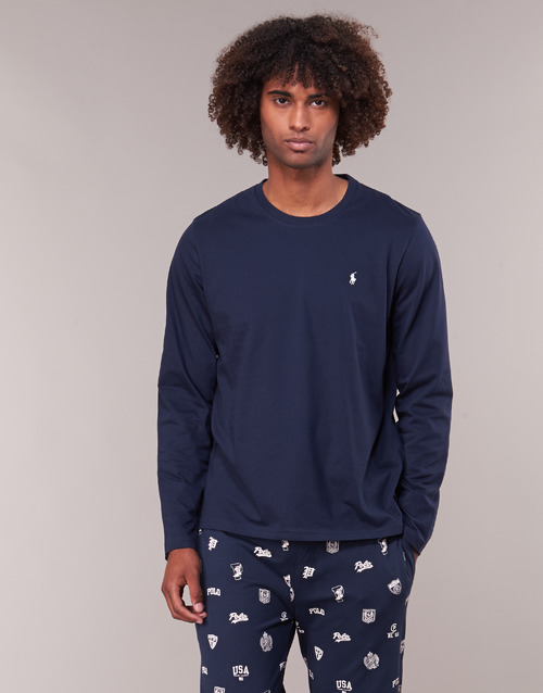 Vêtements Homme T-shirts manches longues Polo Ralph Lauren L/S CREW-CREW-SLEEP TOP Marine