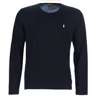 Vêtements Homme T-shirts manches longues Polo Ralph Lauren L/S CREW-CREW-SLEEP TOP Noir