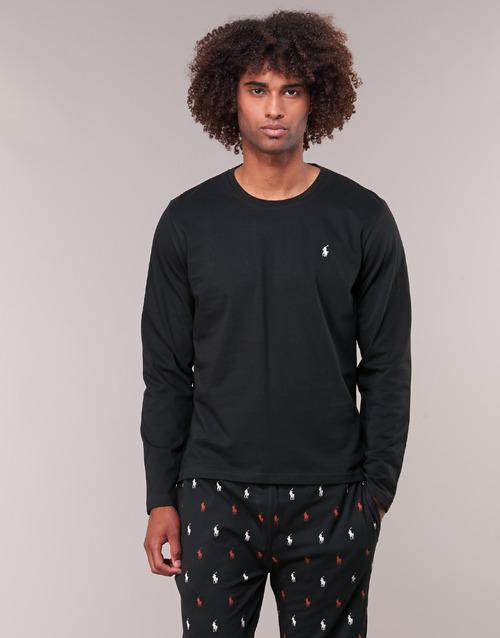 Vêtements Homme T-shirts manches longues Polo Ralph Lauren L/S CREW-CREW-SLEEP TOP Noir