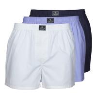 Sous-vêtements Homme Caleçons Polo Ralph Lauren OPEN BOXER-3 PACK-BOXER Blanc / Bleu / Marine