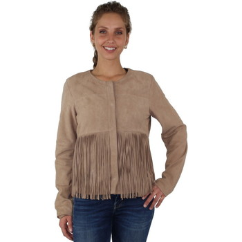 Vêtements Femme Blousons Pallas Cuir Veste  sélection en cuir ref_cco38881-beige Beige