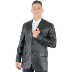 Vêtements Homme Vestes en cuir / synthétiques Oakwood Blazer  en cuir agneau ref_38739-noir Noir