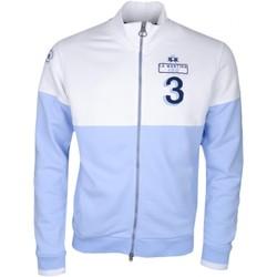 Vêtements Homme Vestes de survêtement La Martina Veste sweat zippée La Marina bleu ciel et blanche pour homme Bleu
