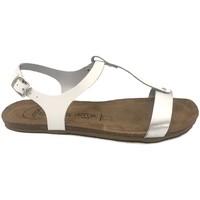 Chaussures Femme Sandales et Nu-pieds Amoa sandales SANARY Blanc/Argent Blanc