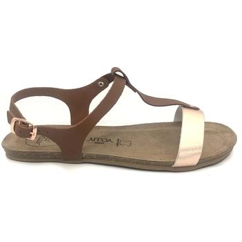 Chaussures Femme Sandales et Nu-pieds Amoa sandales SANARY Marron/Rose Marron