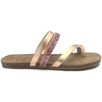 Chaussures Femme Claquettes Amoa sandales LORGUES Rose/Glit Rose