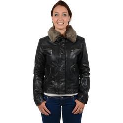 Vêtements Femme Blousons Daytona Blouson  Roxy en cuir ref_day33201-noir noir
