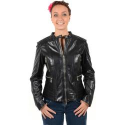 Vêtements Femme Blousons Pallas Cuir Blouson en cuir agneau ref_gvi31089 noir