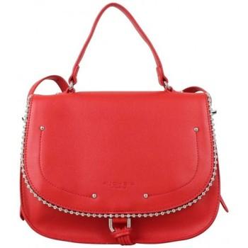 Sacs Femme Sacs porté main Fuchsia Sac main rabat  déco perle reliée Botton Rouge Multicolor