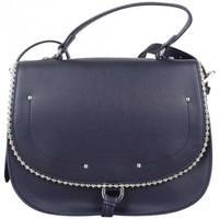 Sacs Femme Sacs porté main Fuchsia Sac main rabat  déco perle reliée Botton bleu Multicolor