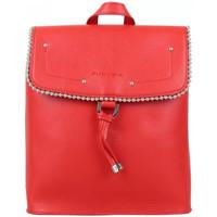 Sacs Femme Sacs à dos Fuchsia Sac à dos à rabat  déco perle reliée Botton Rouge Multicolor