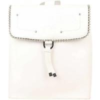 Sacs Femme Sacs à dos Fuchsia Sac à dos à rabat  déco perle reliée Botton Blanc Multicolor