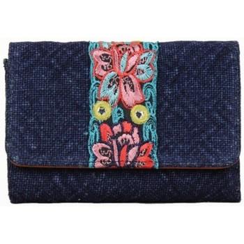 Sacs Femme Porte-monnaie Fuchsia Porte monnaie toile bande déco fleur  Lemon Bleu marine bleu
