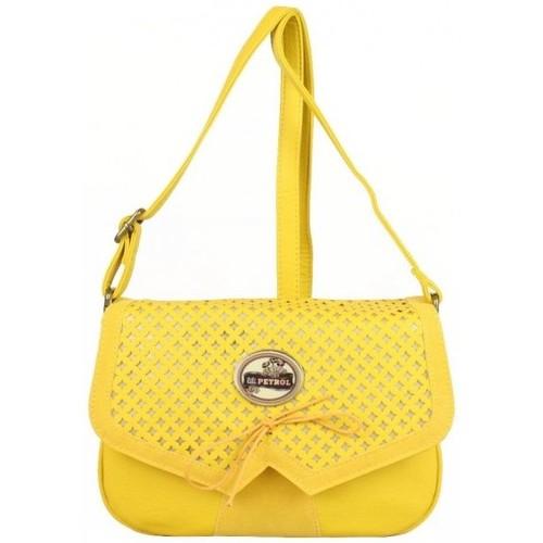 Sacs Femme Sacs Bandoulière Lili Petrol Sac bandoulière  jaune délavé ajourée or EM Multicolor