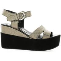 Chaussures Femme Sandales et Nu-pieds Borgoroma Bgoma Nu pieds cuir laminé  plomb Plomb