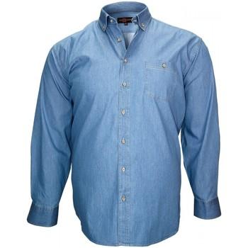 Vêtements Homme Chemises manches longues Doublissimo chemise en jeans denim bleu Bleu