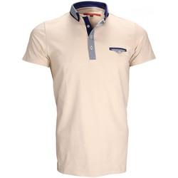 Vêtements Homme Polos manches courtes Andrew Mc Allister polo double col john beige Beige