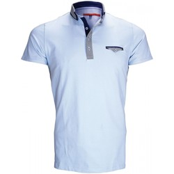 Vêtements Homme Polos manches courtes Andrew Mc Allister polo double col john bleu Bleu