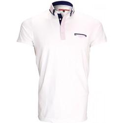 Vêtements Homme Polos manches courtes Andrew Mc Allister polo double col john blanc Blanc
