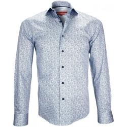Vêtements Homme Chemises manches longues Andrew Mc Allister chemise fantaisie wembley bleu Bleu