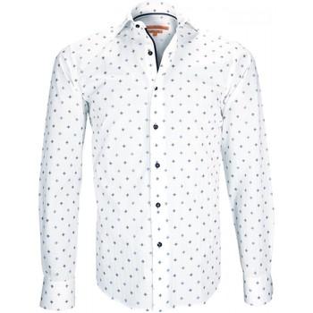 Vêtements Homme Chemises manches longues Andrew Mc Allister chemise fantaisie wembley blanc Blanc