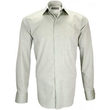 Vêtements Homme Chemises manches longues Emporio Balzani chemise fil a fil filotrino vert Vert