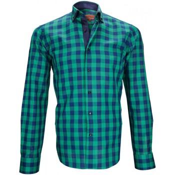 Vêtements Homme Chemises manches longues Andrew Mc Allister chemise casual devon vert Vert