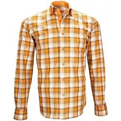 Vêtements Homme Chemises manches longues Andrew Mc Allister chemise casual devon orange Orange