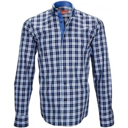 Vêtements Homme Chemises manches longues Andrew Mc Allister chemise casual devon bleu Bleu