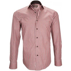 Vêtements Homme Chemises manches longues Emporio Balzani chemise en popeline lancashire rouge Rouge