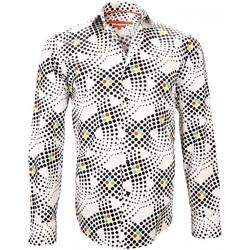 Vêtements Homme Chemises manches longues Andrew Mc Allister chemise imprimee ginger blanc Blanc
