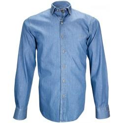 Vêtements Homme Chemises manches longues Emporio Balzani chemise en jeans denim bleu Bleu