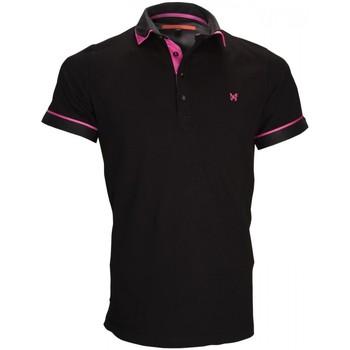 Vêtements Homme Polos manches courtes Andrew Mc Allister polo mode erwin noir Noir
