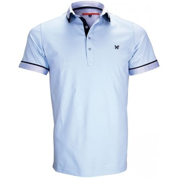Vêtements Homme Polos manches courtes Andrew Mc Allister polo mode erwin bleu Bleu