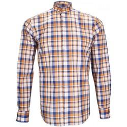 Vêtements Homme Chemises manches longues Andrew Mc Allister chemise col mao winch orange Orange