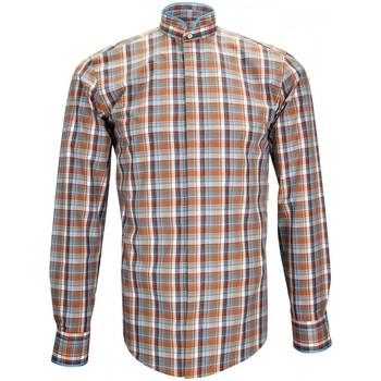 Vêtements Homme Chemises manches longues Andrew Mc Allister chemise col mao winch beige Beige