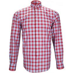 Vêtements Homme Chemises manches longues Andrew Mc Allister chemise col mao winch rouge Rouge