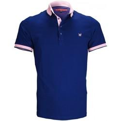 Vêtements Homme Polos manches courtes Andrew Mc Allister polo pique pierce bleu Bleu