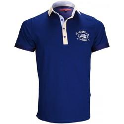 Vêtements Homme T-shirts & Polos Andrew Mc Allister polo brode kyle bleu Bleu