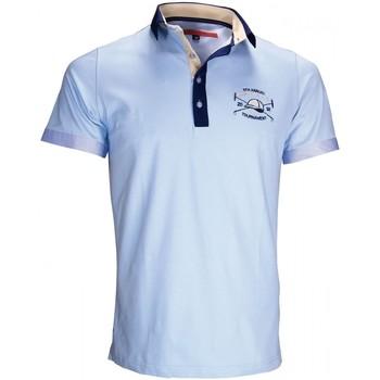 Vêtements Homme Polos manches courtes Andrew Mc Allister polo brode kyle bleu Bleu