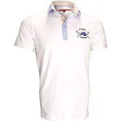 Vêtements Homme Polos manches courtes Andrew Mc Allister polo brode kyle blanc Blanc