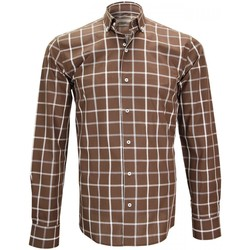 Vêtements Homme Chemises manches longues Emporio Balzani chemise sport mattonella marron Marron