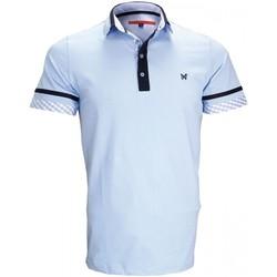 Vêtements Homme Polos manches courtes Andrew Mc Allister polo mode randy bleu Bleu